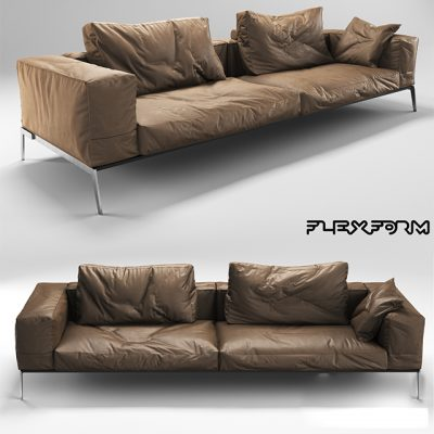 Flexform Lifesteel Sofa Set-02 3D Model