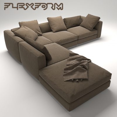 Flexform MAL Sofa 3D Model