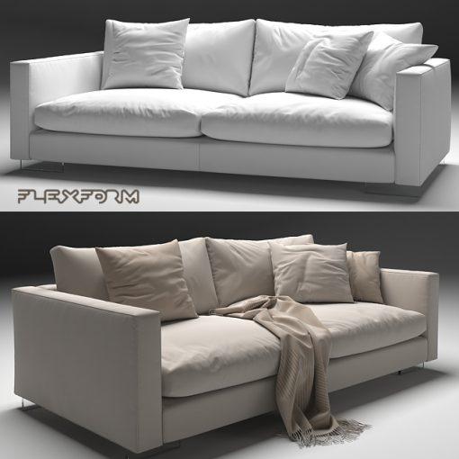 Flexform Magnum Sofa Set-02 3D Model 2