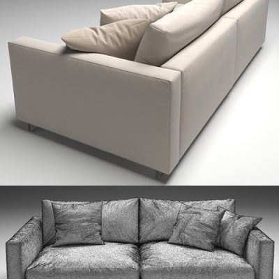 Flexform Magnum Sofa Set-02 3D Model