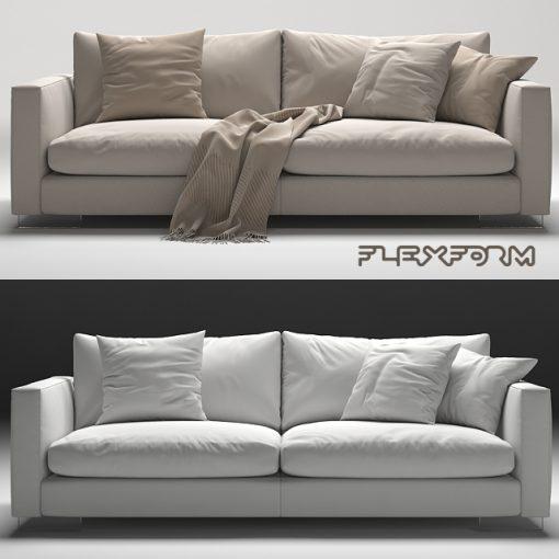 Flexform Magnum Sofa Set-02 3D Model