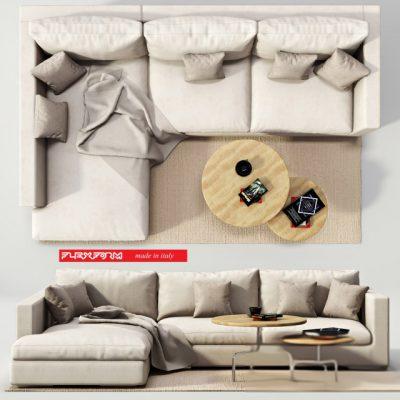 Flexform Magnum Sofa Set 3D Model