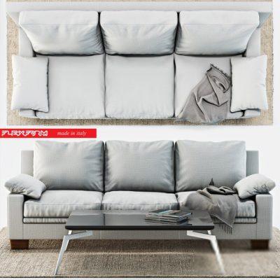 Flexform Maxidue Sofa 3D Model