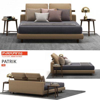 Flexform Patrik Bed 3D Model