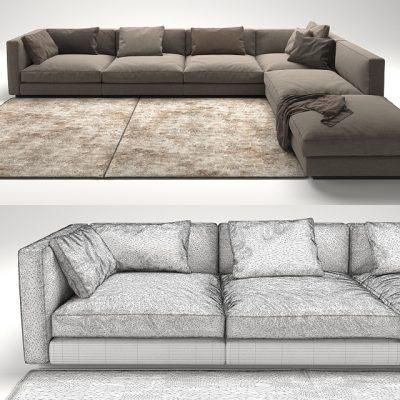Flexform Pleasure Sofa 3D Model 3