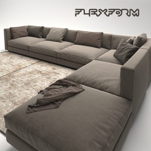 Flexform Pleasure Sofa 3D Model