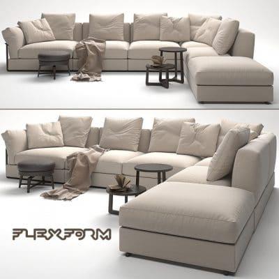 Flexform Sofa 3D Model 1