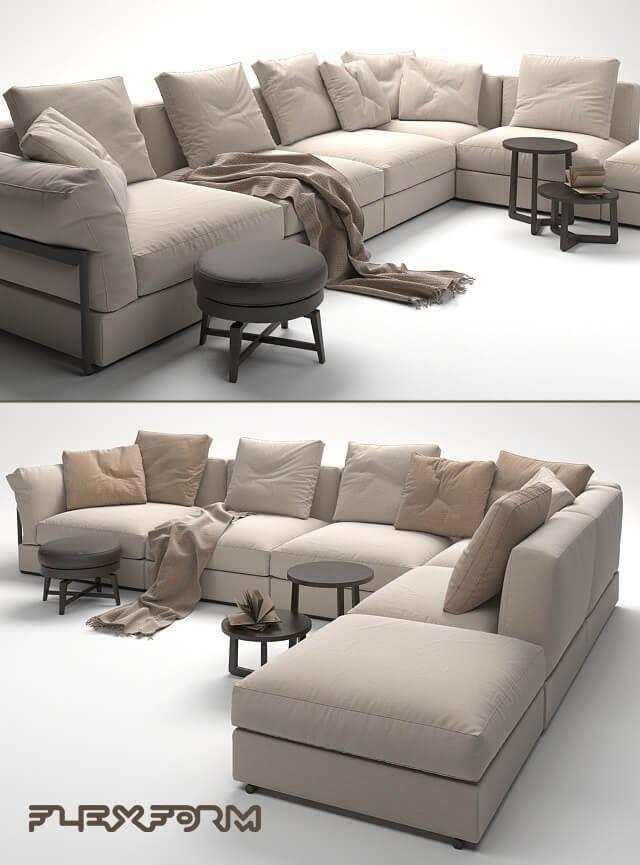 Flexform Sofa 3D Model 2