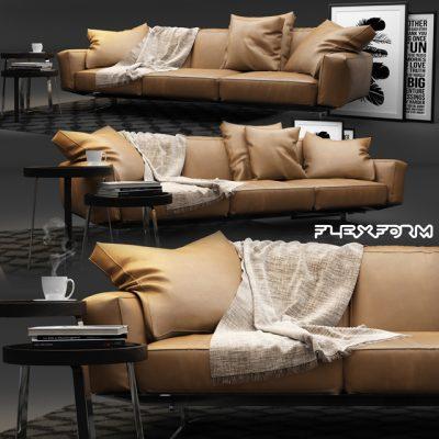 Flexform Soft Dream Sofa 3D Model