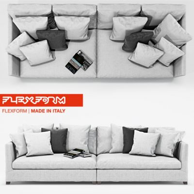 Flexform Victor Large Sofa 3D Model