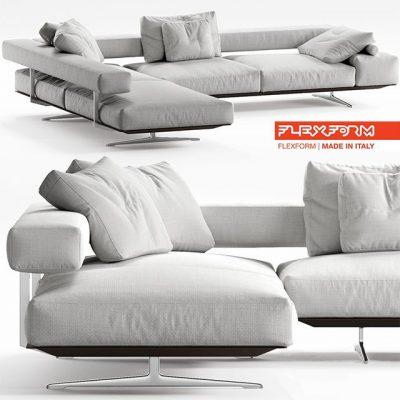 Flexform Wing Sofa 3D Model