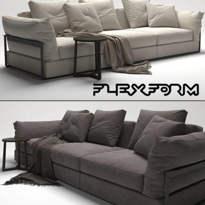 Flexform Zeno Light Sofa 3D Model
