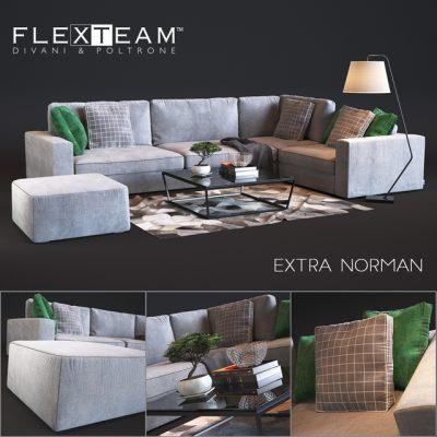 Flexteam Extra – Norman Sofa 3D Model