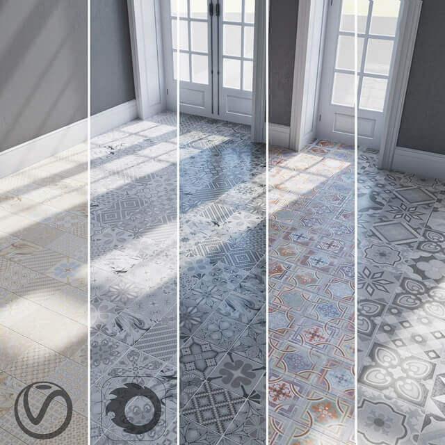 Floor Ceramic Tiles Textures 3D model
