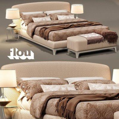 Flou Oliver bed 3d model (1)