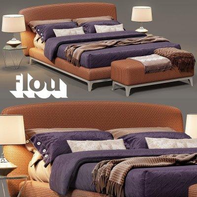 Flou Oliver bed 3d model (2)