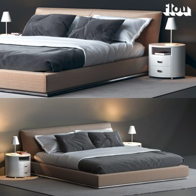 Flou Sailor Bed 3D Model