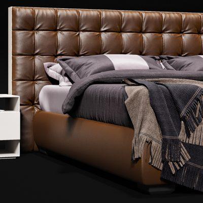 Flou Sanya Bed 3D Model