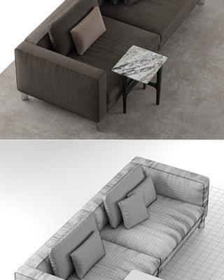 Flou Tay Modular Sofa Set-02 3D Model 3