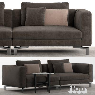Flou Tay Modular Sofa Set-02 3D Model