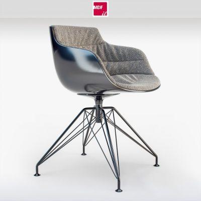 Flow Slim Padded Lem Base Chair 3D Model