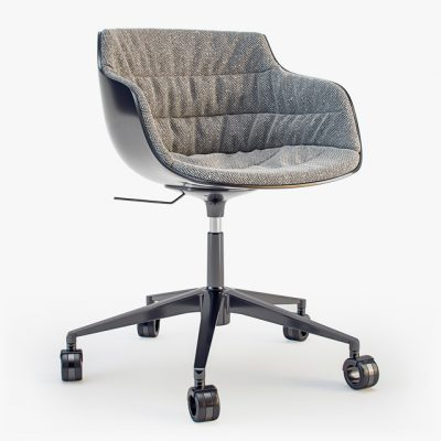 Flow Slim Padded Star Base Chair 3D Model