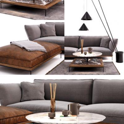 Fogia Jord Sofa 3D Model 2