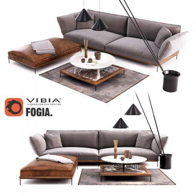 Fogia Jord Sofa 3D Model