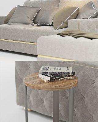 Formerin Manfredi Sofa 3D Model