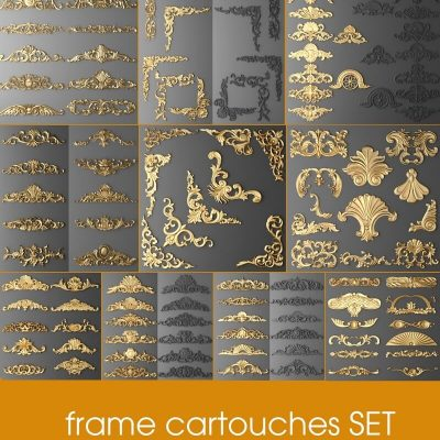 Frame Cartouches SET 3d 3D Model