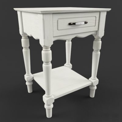 Francoise Bed-Side Table 3D Model