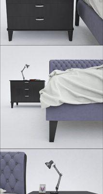 Fratelli Barri Bed 3D Model