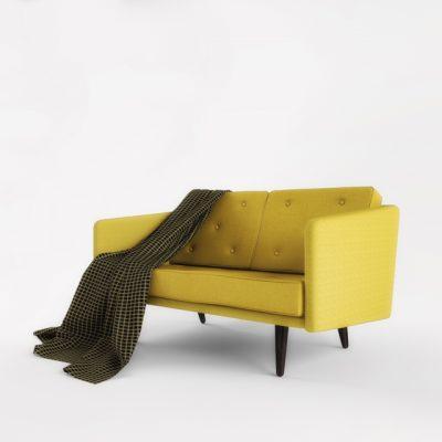 Fredericia 2-Seater Sofa Set-01 3D Model