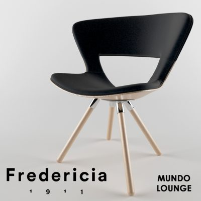 Fredericia Furniture Mundo Lounge Chair 3D Model