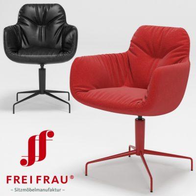 Freifrau Leya Low Armchair 3D Model
