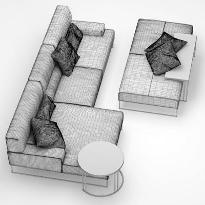 Frigerio Salotti Cloud Sofa 3D Model 4