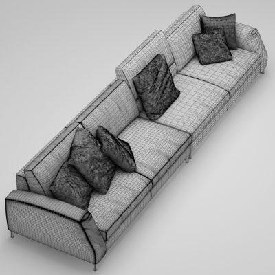 Frigerio Salotti Davis Sofa 3D Model