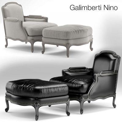 Galimberti Nino Pigra Armchair 3D Model