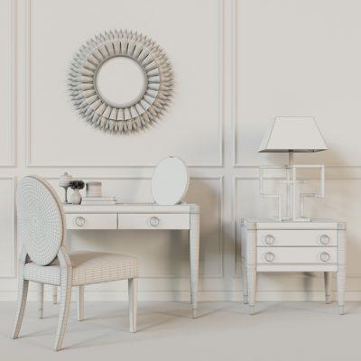 Galimberti Nino Tormalina Smeraldo Table & Chair 3D Model