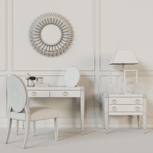 Galimberti Nino Tormalina Smeraldo Table & Chair 3D Model 3