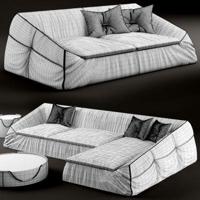 Gamma Arredamenti Divan Suite Sofa 3D Model