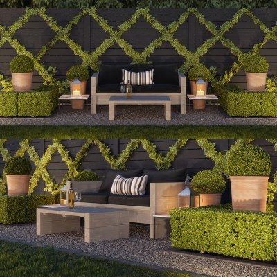 Garden seating area 3D model