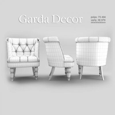 Gerda Decor Armchair 3D Model