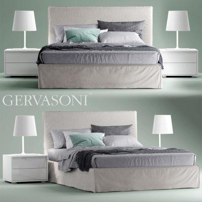 Gervasoni Bett Ghost 80 E Bed 3D Model