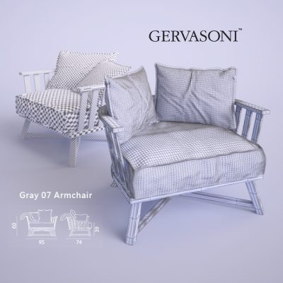 Gervasoni Gray-07-Two Types Armchair 3D Model
