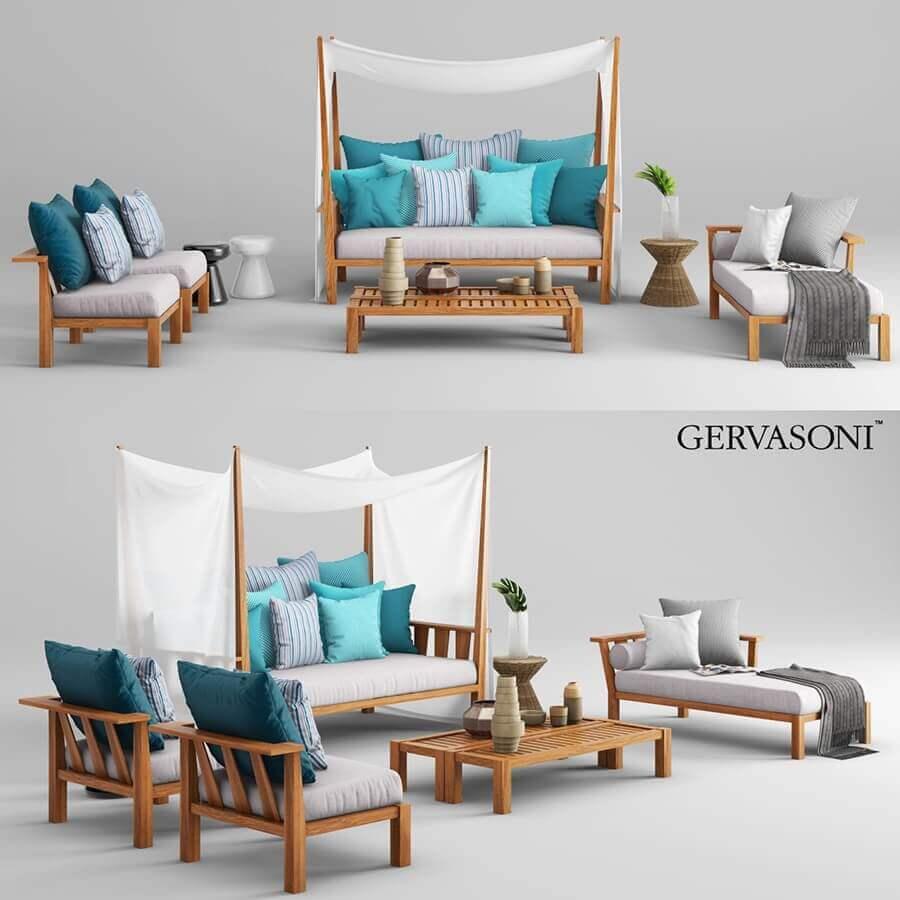Gervasoni inout outdoor furniture 3d model for download for Gervasoni furniture