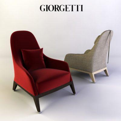 Giorgetti 51060 Armchair 3D Model