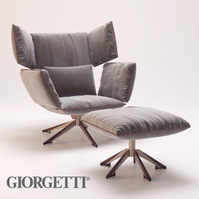Giorgetti Sahara Chair 3D Model