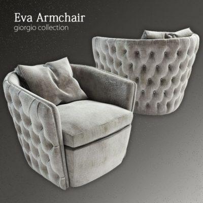 Giorgio Collection Eva Armchair 3D Model
