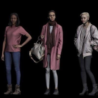 Girls 3D model